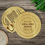 Personalised Brand New Mr & Mrs Cheese Board