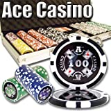 500 Ace Casino Poker Chip Set. 14 Gram Heavy Weighted Poker Chips. by Brybelly