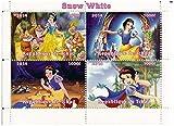 Édition limitée Classique Disney Blanche-Neige et le bloc sept nains de timbres 4 de menthe / 2014 / Tchad