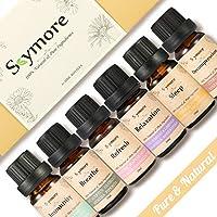 Kit de Top6 Huiles Essentielles 100% Naturelles Bio, Idée Cadeau, pour les Diffuseurs d'Aromathérapie, Natural Essential Oil