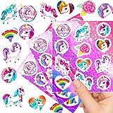 German Trendseller® - 12 x Einhorn Kinder Sticker - Set┃ Mix ┃ Kindergeburtstag ┃ Mitgebsel ┃ Einhorn Party ┃ 12 Bögen