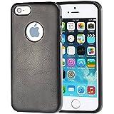 iPhone 5 Hülle,iPhone 5s Hülle,iPhone se Hülle,Einfach Slim Fit PU Leder und TPU Hybrid handys Schutz Taschen Schalen Hülle für iPhone 5 / 5s /se - Schwarz