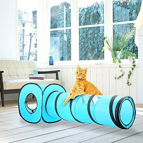 Pawise Cat Toys - Túnel para Gatos y Cubos de Gato Plegables para Interiores y Exteriores