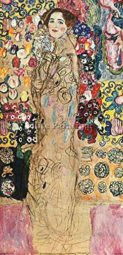 GUSTAV KLIMT ARTISTA QUADRO RIPRODUZIONE DIPINTO OLIO TELA A MANO MAESTRI ARTE 120x60cm alta qualita