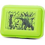 ergobag Brotdose - ergobag Brotdose mit Motiv, BPA-frei, spülmaschinenfest, Trennfach Dino - Grün