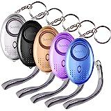SUNMAY persoonlijk alarm, 5 pakketten 140DB persoonlijk beveiligingsalarm met LED-licht, zelfverdediging noodalarm voor vrouw