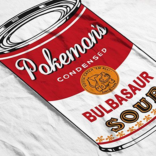 Pokemon Pop Soup Can Grass Edition Men's Baseball Long Sleeved T-Shirt White/Black
