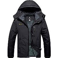 GEMYSE Men's Mountain Waterproof Ski Jacket Windproof Fleece Outdoor Winter Coat with Hood