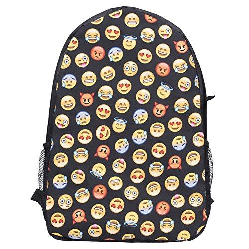 Damen Nette Rucksack Cool Kids Schultasche Smiley Schulter Beutel für Frauen #1 #3