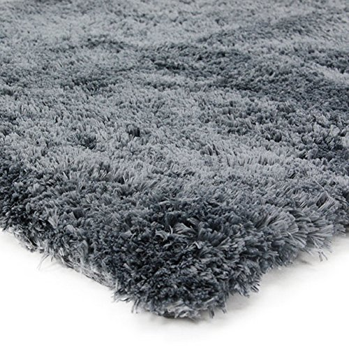 Preisvergleich Produktbild thedecofactory Teppich Extra Weich, Polyester, blau Asch, 230x 160x 2cm