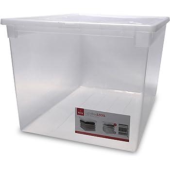 xxl aufbewahrungsbox mit deckel aus transparentem. Black Bedroom Furniture Sets. Home Design Ideas