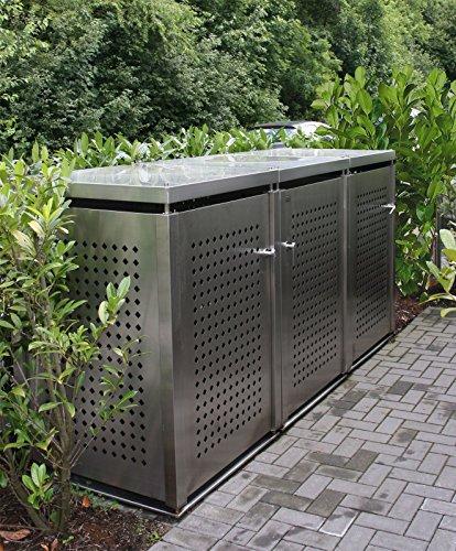 Mülltonnenbox für drei Mülltonnen 240 l