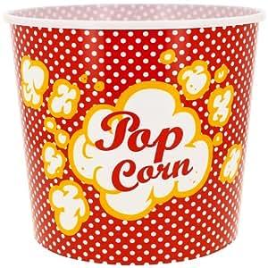 Promobo -Gobelet Pot à Pop Corn 3,5L Soirée Télévision Design Vintage rouge