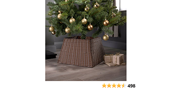 Noël Naturel Grand Saule Osier Tressé Rotin Tree Jupe base support de capot