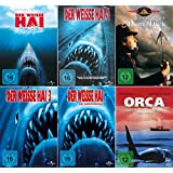 Der weisse Hai 1 - 4 Collection + Moby Dick + Orca der Killerwal