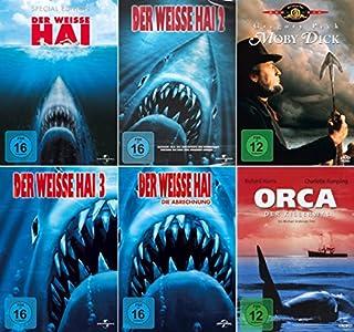 Der weisse Hai 1 - 4 Collection + Moby Dick + Orca der Killerwal (6-DVD)