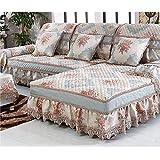 KA-ALTHEA- de alto grado sofá sofá cubierta jacquard cojín estera Europea deslizamiento modernas estaciones de tela -El amortiguador del sofá conjuntos de sofás Funda ( Tamaño : 90*180cm )