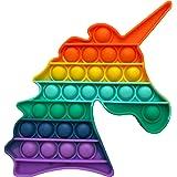AYULI® Fidget Toy Sensory Pop It Fidget Popper Silicone Stress Toys For Anxiety (Rainbow-Unicorn)