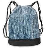 Multifunctional Bundle Backpack - Jeans Fabric Thread Art 3D Print Drawstring Backpack - Portable Shoulder Bags Travel Sport Gym Bag - Yoga Runner Daypack Shoe Bags