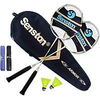 Senston Graphit Badminton Set Carbon Profi Badmintonschläger Leichtgewicht Badminton Schläger Federballschläger Set für…