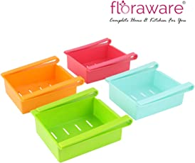 Plastic Refrigerator Storage Rack Set, Multicolour