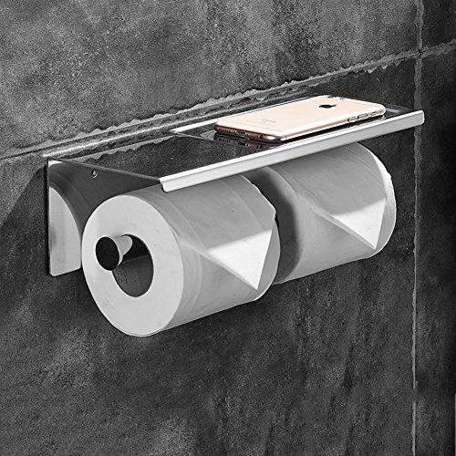 Wc-papier-halter Lufterfrischer (TY&WJ Wandhalterung Gewebe Toilettenpapierhalter Badezimmer Gewebe-halter Seidenpapier roll Dispenser Handy-halter Multi-use-C 26x9.8x9.6cm(10x4x4inch))