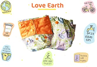 Superbottoms Plus UNO - LOVEEARTH - One Wash Prep Trim All in One Organic Cotton Cloth Diaper with 2 soakers