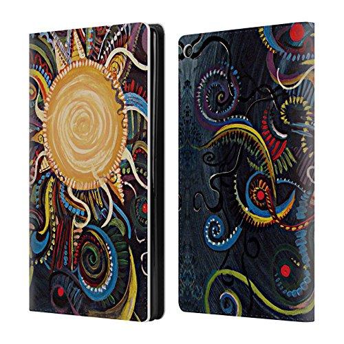 Offizielle Brenda Erickson Coyote Mond Brieftasche Handyhülle aus Leder für Amazon Fire HD 8 (Coyote Leder)
