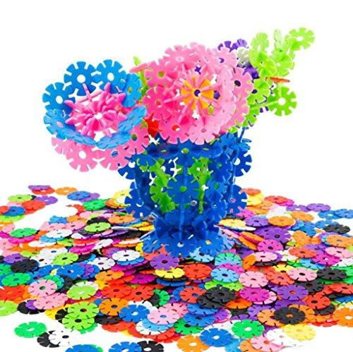HJXJXJX Verdickte 12 - Farben - Schneeflocke Stücke Kinderpädagogisches Spielzeug dreidimensionale Puzzleblöcke , 3cm