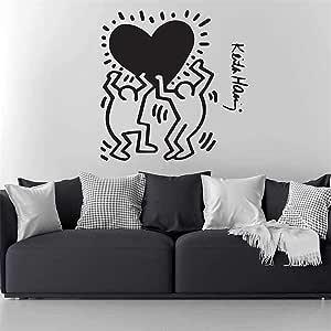 Adesivi Murali Keith Haring.Adesivo Murale Keith Haring For Kids Room Decori Soggiorno Home Decor Natale Finestra Camera Da Letto Vivaio Amazon It Fai Da Te