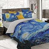 Italian Bed Linen Parure Copripiumino con Stampa Digitale a Copertura Totale Sul Sacco e Sulle Federe 2 Posti 100% Cotone, Multicolore (SD15), 250x200x1 cm