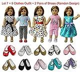 Best L'American Girl Dolls - ZITA ELEMENT® Vêtements Poupées Lot 7PCS = 5 Review