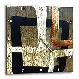 10x10 Wall Clock : 3dRose LLC Squares Rule 10 by 10-Inch Wall Clock