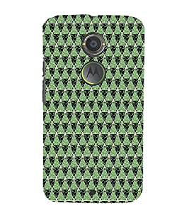 Print Masti Designer Back Case Cover for Motorola Moto X2 :: Motorola Moto X (2nd Gen) (Spiral Dot Circle Diamond )