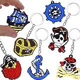 German Trendseller® - 12 x porte-clés pirats┃la fête des pirates┃l'anniversaire d'enfant ┃pour petits cadeaux ┃12 pcs