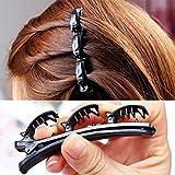 Emeauty Fashion double layer fascia torsione treccia clip anteriore fermagli per capelli, accessori capelli Tornante fascia strumento di bellezza