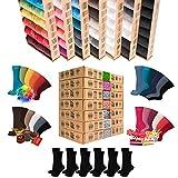 +NEW+ [7 + 5 GRATIS] Deluxe|BOX [Original AirSox®] Calzini Lunghi Uomo | Calze Donna| Cotone 100% Organico | perché anche i Tuoi piedi vogliono respirare [Business|Casual|Work|Running] MADE IN EU