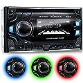 XOMAX XM-2CDB620 Autoradio avec Lecteur CD I Mains Libres Bluetooth I RDS I 3 Couleurs réglables (Rouge, Bleu, Vert) I USB, Micro SD, AUX I 2X Connexion pour subwoofer I 2 DIN de XOMAX