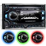 XOMAX XM-2CDB620 Autoradio mit CD-Player + Bluetooth Freisprecheinrichtung & Musikwiedergabe + 3 Farben einstellbar (Rot, Blau, Grün) + USB Anschluss (bis 128 GB) & Micro SD Kartenslot (bis 128 GB) für MP3 und WMA + AUX-IN + Anschluss für 2x Subwoofer + Doppel-DIN / 2-DIN Standard Einbaugröße + inkl. Fernbedienung, Blende & Einbaurahmen
