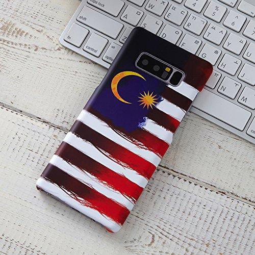 TBL National Flagge Design Abdeckung Hard Case Matt Für Galaxy Note 8Case [Kratzfest], 3D_Malaysia_note8