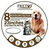 Collare Antipulci per Cani e Gatti – 65cm Ajustable Collare Antiparassitario Antizecche para Cane Taglia Media Grande