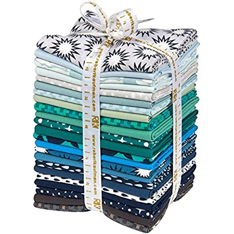 Elizabeth Hartman Pacific Cool 23 Fat Quarter Bundle Robert Kaufman Fabrics FQ-1037-23 by Robert Kaufman Fabrics - Quarter Fat Fq Bundle