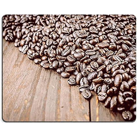 Liili Mouse Pad-Tappetino per Mouse in gomma naturale con immagine di chicchi di caffè, ID 33267335 su sfondo stile vintage con immagini di effetto
