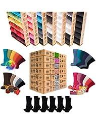 ✩NEU✩ [7+5 Paar.GRATIS] AirSox® Deluxe BOX Made.in.EU Herrensocken Damensocken 100% Organische Baumwolle   Damit Deine Füße ATMEN   Sneakersocken Sportsocken Business Schwarz Blau Bunt Weiß
