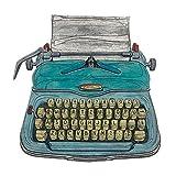 Barry Goodman-Tela Stampe Stile Macchina da Scrivere, Poliestere, Multicolore, 40 x 40 cm