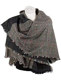 Emila Sciarpone donna inverno da ragazza coprispalle autunnale invernale  sciarpa grande foulard scialle quadrata stola coprispalle cbf2e750156e