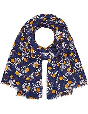 Tommy Hilfiger Damen Schal Flowers Dots Scarf, Blau (Tommy Navy 413), One Size