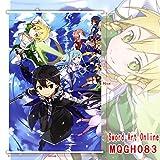 Hi!Hi Rollbild/Kakemono aus Stoff Poster Schwert Art Online Theme Wanddekoration 60x90cm,D