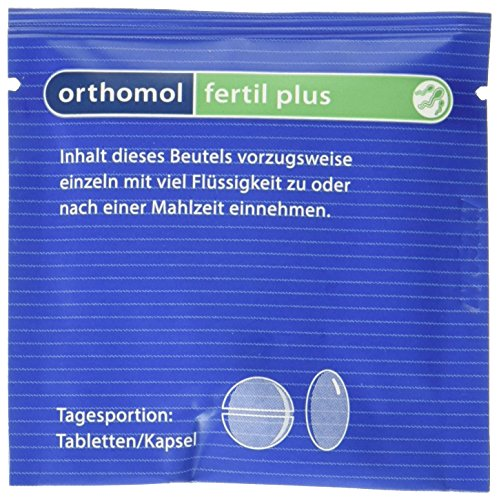 Orthomol fertil plus 90er Tabletten & Kapseln - Nahrungsergänzung für Männer - Fruchtbarkeit steigern bei Kinderwunsch - Mineralien 90 Tabletten