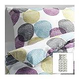 IKEA MALIN RUND buntes Bettwäscheset 2 teilig 140x200cm und 80x80cm Kopfkissen Bettbezug 100% Baumwolle